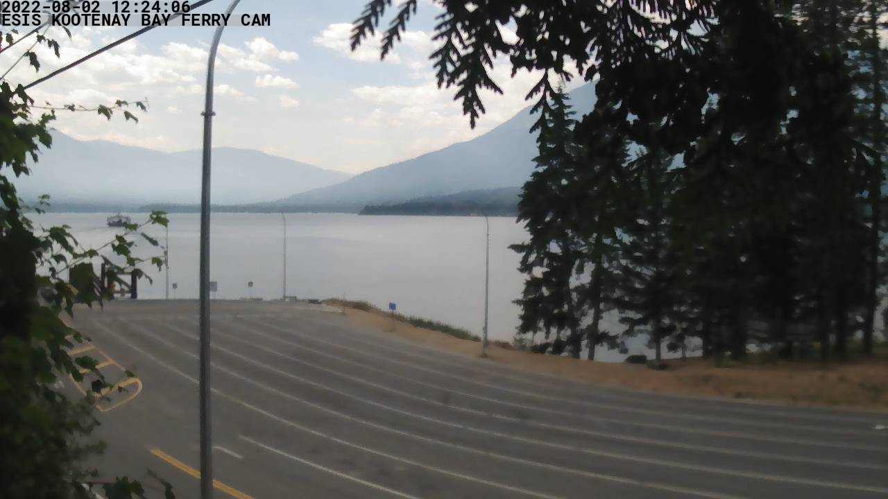 Kootenay Bay Ferry Landing Webcam - Provided by the East
