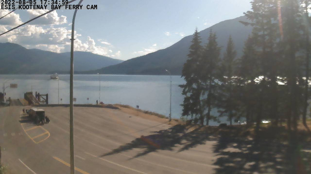 Kootenay Bay Ferry Landing Webcam