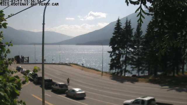 Kootenay Bay Ferry Landing Webcam - Provided by the East Shore Internet Society, with funding by the RDCK EDCK